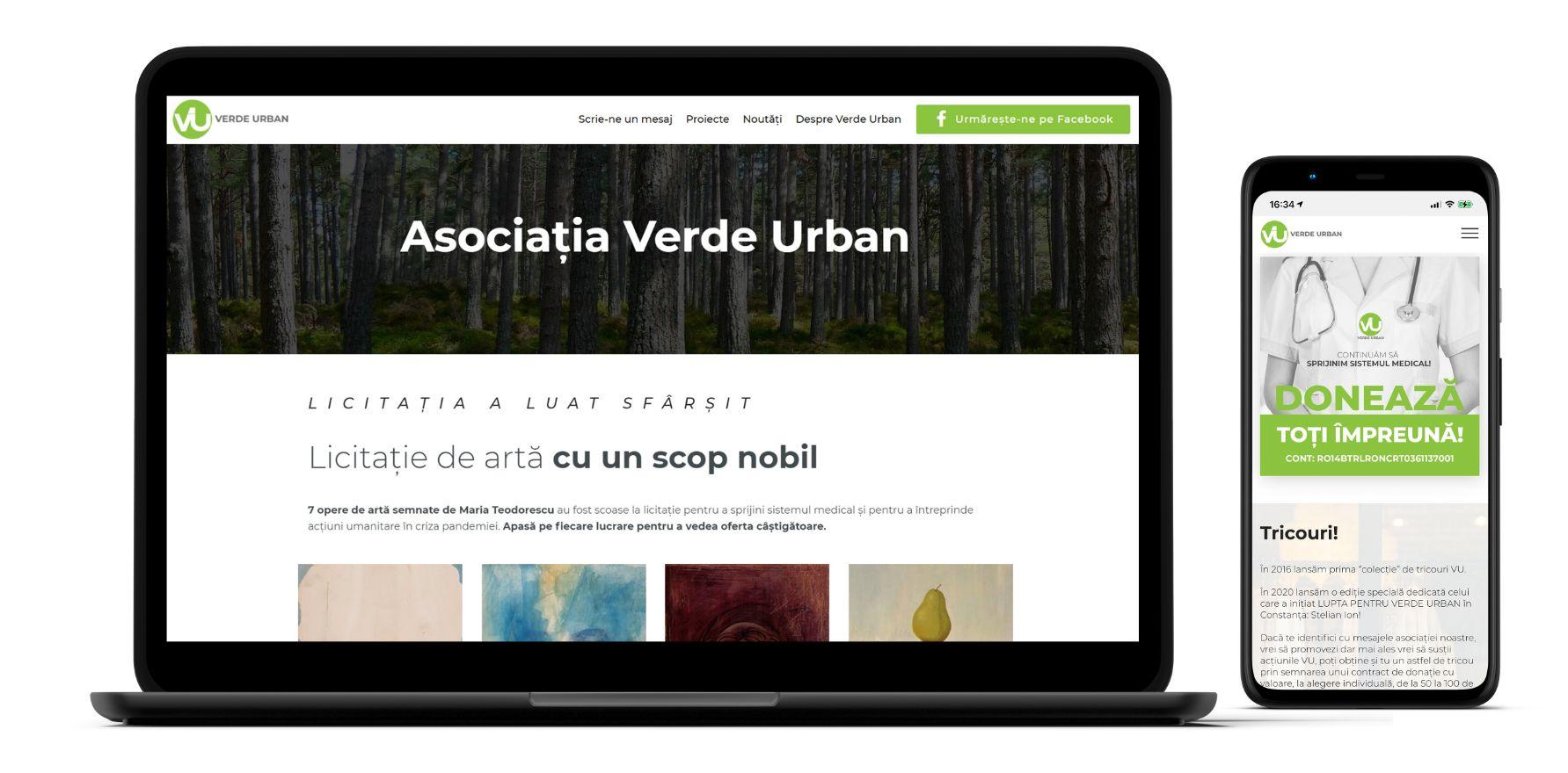 site de prezentare verde urban