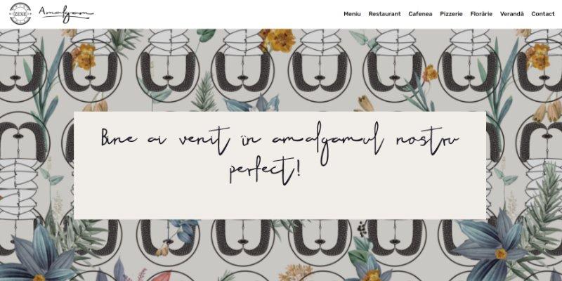 creare site restaurant amalgam