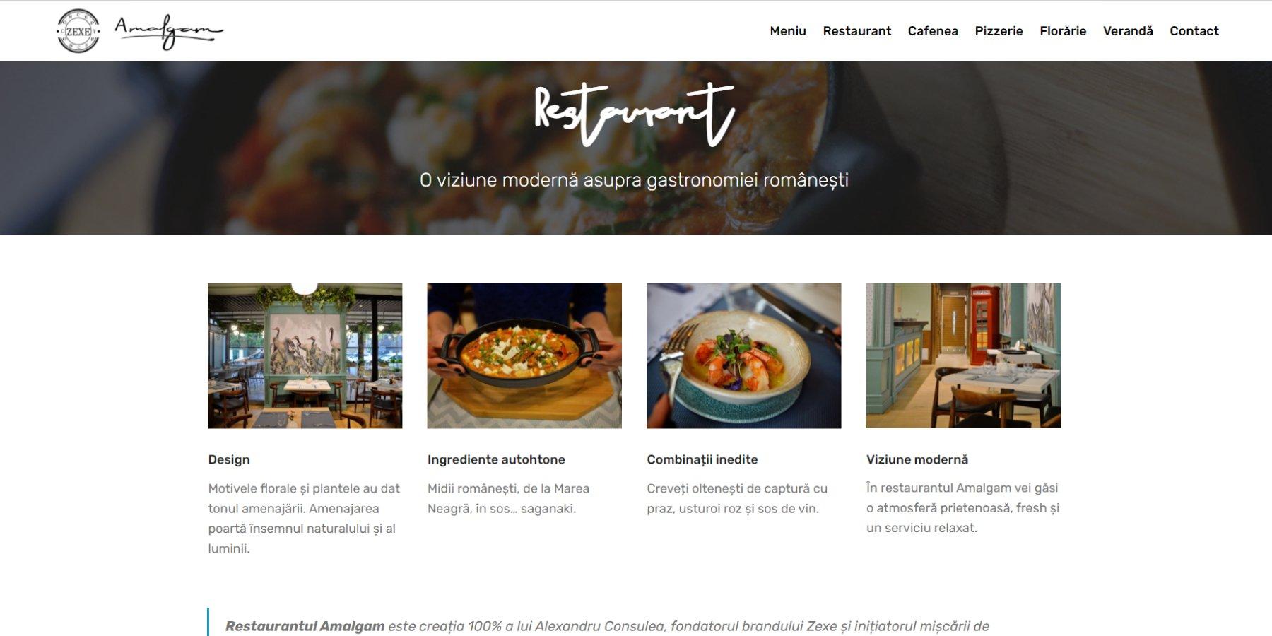 site pentru restaurant