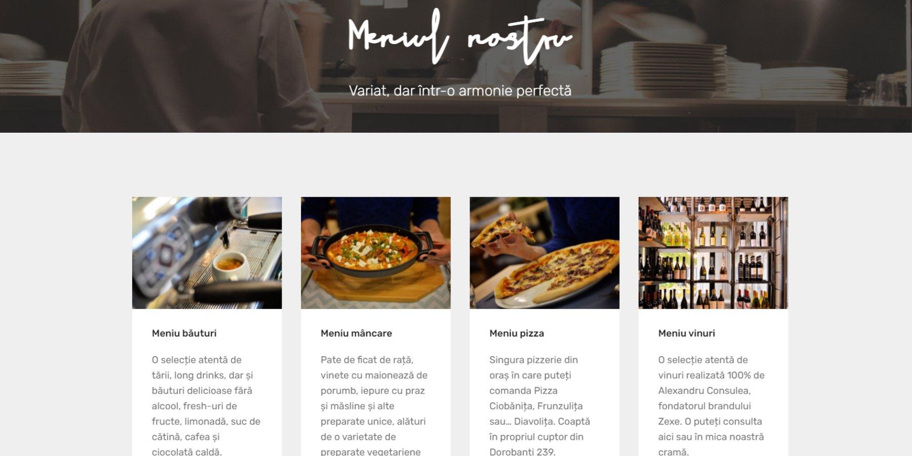 site pentru restaurante